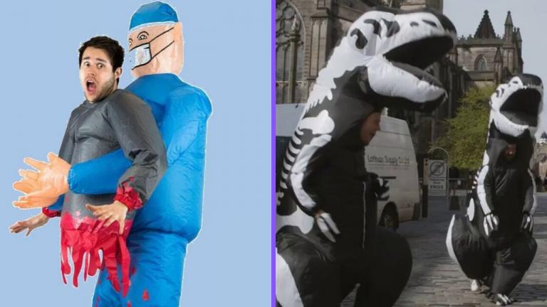 Costumi Gonfiabili di Halloween per adulti, i più assurdi che puoi indossare.