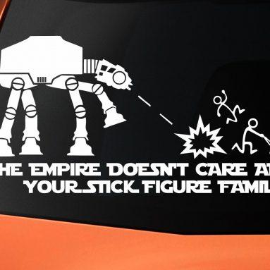 Adesivo Per Auto Impero Star Wars