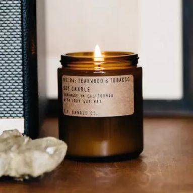 Candela Aromaterapia Tabacco E Sandalo