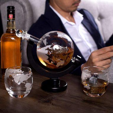 Decanter E Bicchieri Whisky Globo