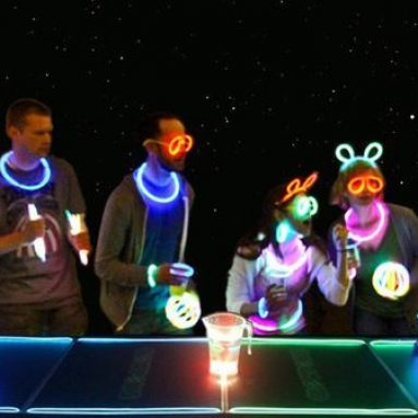 Set Beer Pong Fluorescente