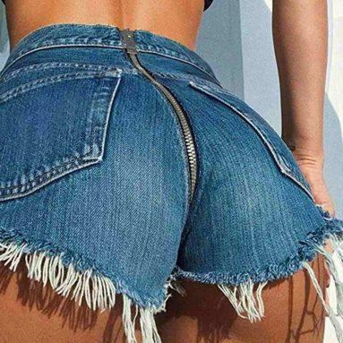 Jeans Con Cerniera Sul Culo