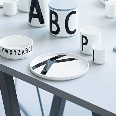Piatto Design Con Lettera A Scelta