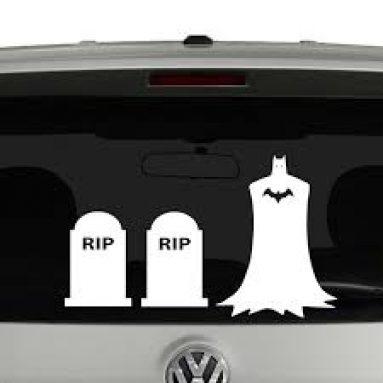 Adesivi Per Auto Famiglia Batman