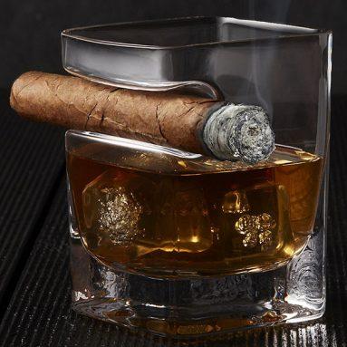 Bicchiere Da Whisky Porta Sigaro