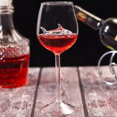 Bicchiere Con Squalo In Cristallo