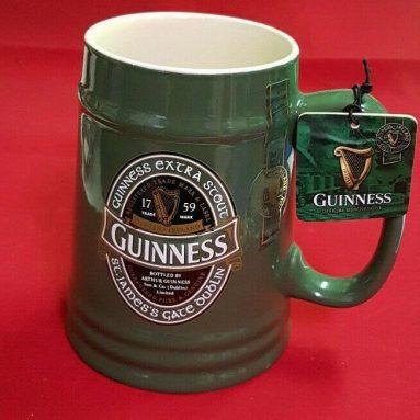 Boccale Birra Guinnes In Ceramica