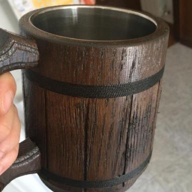 Boccale Per Birra In Legno DI Quercia