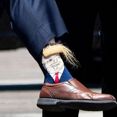 Calzini Donald Trump Con Ciuffo Integrato