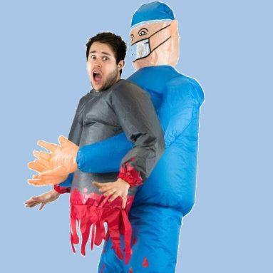 Costume Gonfiabile Dottore Killer