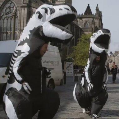 Costume T-Rex Scheletrico Gonfiabile