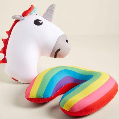 Cuscino Unicorno/Arcobaleno Da Viaggio
