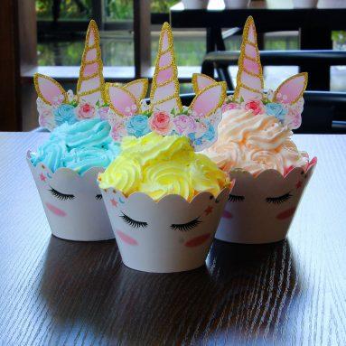 Decorazioni Cupcake Unicorno