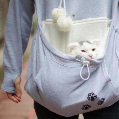 Felpa Con Marsupio Porta Gatto