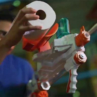 Fucile Spara Palline Di Carta Igienica