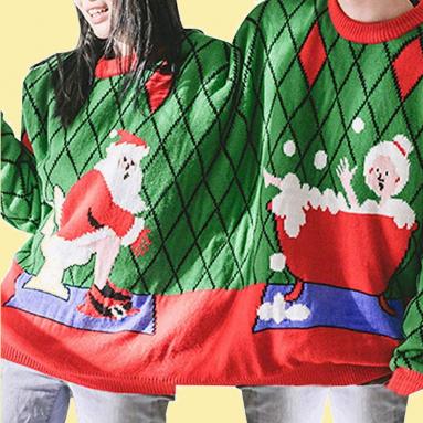Maglione Doppio Di Natale Al Bagno