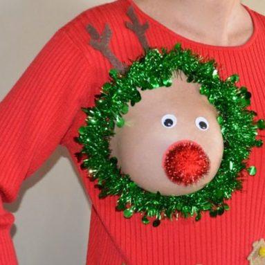 Maglione Tetta Renna Di Natale