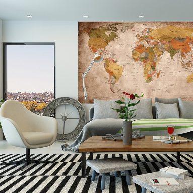 Mappa Del Mondo Da Parete