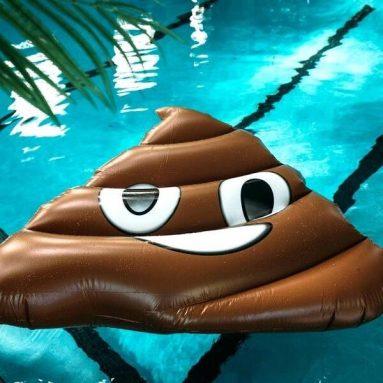 Materassino Mare Emoji Cacca