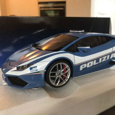 Modellino Lamborghini Huracan Polizia