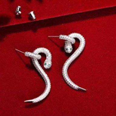 Orecchini Serpente Argento Sterling