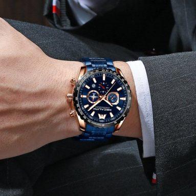 Orologio Cronografo Megalith Blu