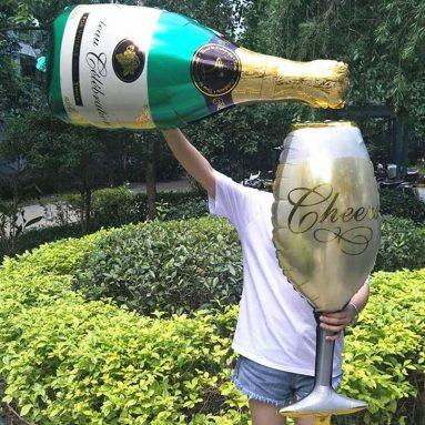 Palloncini A Forma Di Bottiglie E Bicchieri