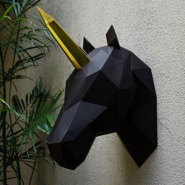 Trofeo Testa Di Unicorno Di Carta