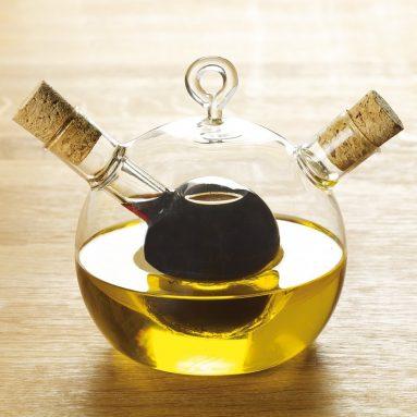 Set Olio E Aceto Sfera Di Vetro