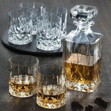 Set Bottiglia Whisky Con Bicchieri