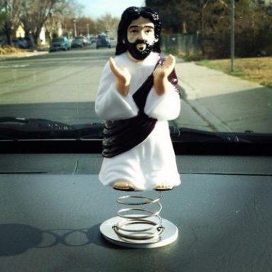 Statuetta Gesù Molleggiato Per Auto
