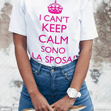 T-Shirt Keep Calm Addio Al Nubilato