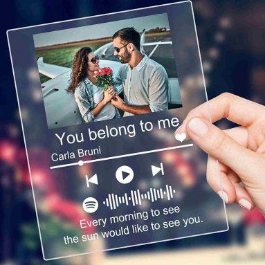 Targa Spotify Musica Personalizzata