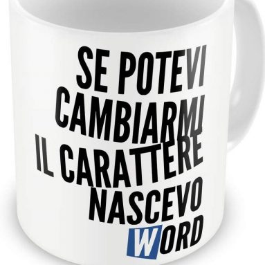 Tazza Carattere Word